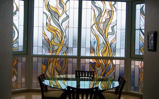 рисувани стъкла