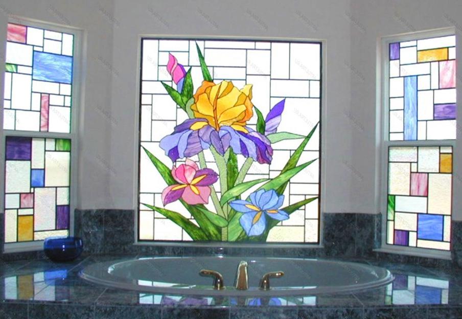 витраж в банята